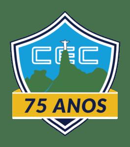 Logo do CEC com faixa comemorativa de 75 anos